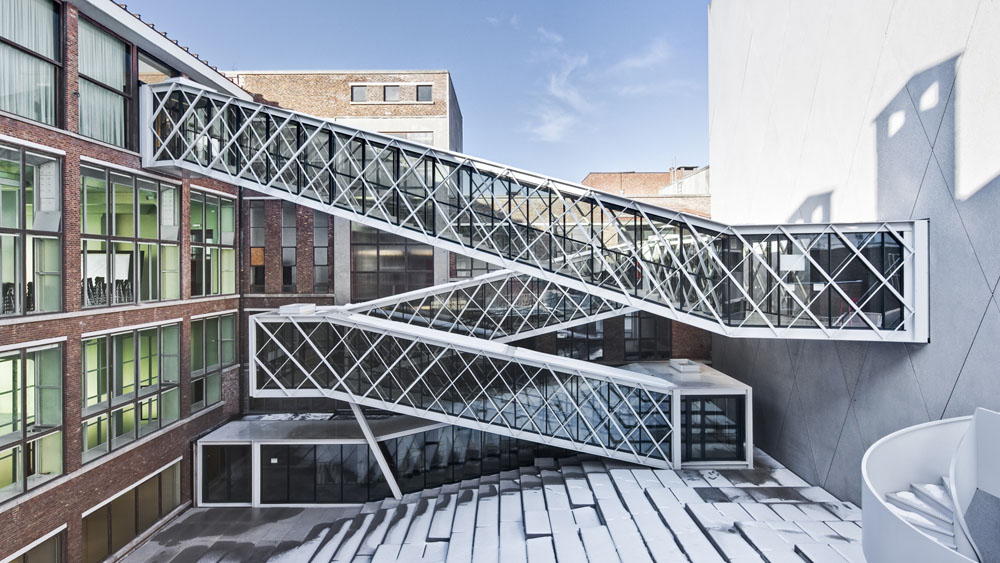 Un nouveau centre culturel pour ostende infosteel for Structure metallique architecture