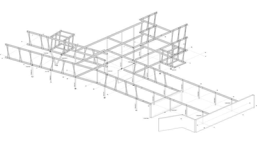 Maison communale de montigny le tilleul infosteel for Structure metallique architecture