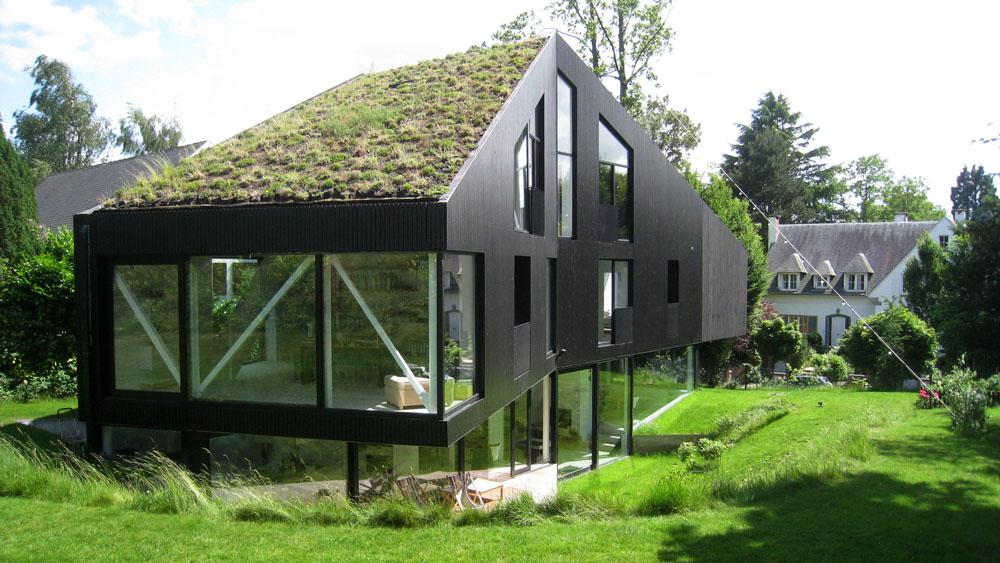 Villa unifamiliale uccle infosteel for Staalbouw woningen