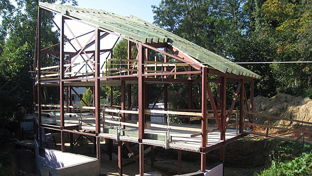 Villa unifamiliale uccle infosteel for Structure metallique architecture