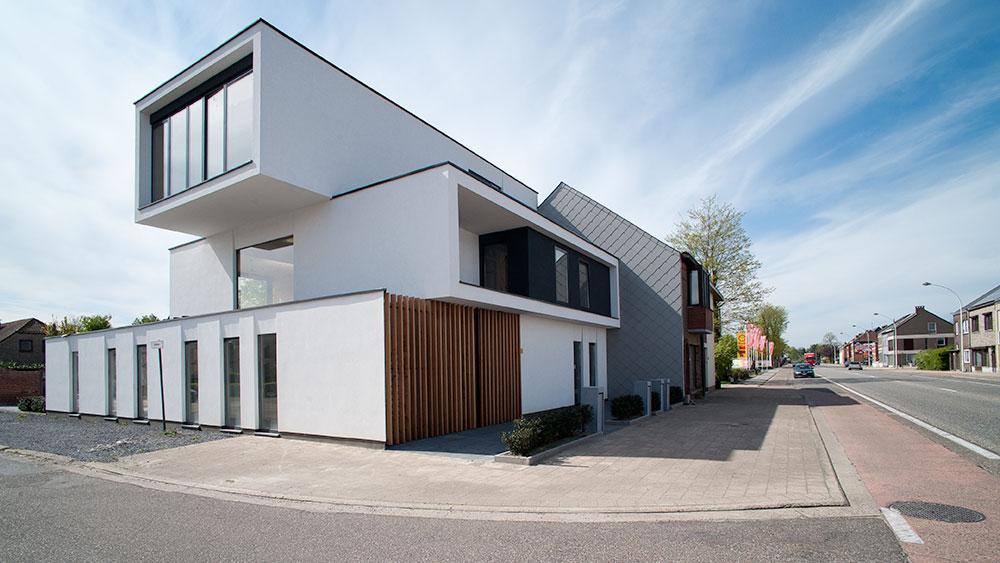 Vier appartementen in leopoldsburg infosteel for Staalbouw woningen