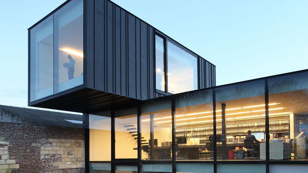extension d 39 un bureau d 39 architecture infosteel. Black Bedroom Furniture Sets. Home Design Ideas